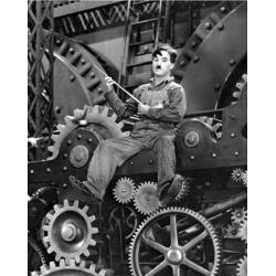 Affiche Charlie Chaplin Les temps Modernes - Dimension 24x30 cm