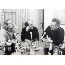 Affiche Brel Brassens Ferre - Émission Radio - Dimension 50x70 cm