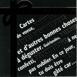 Carte Black and Gold - Bon anniversaire - Plein de bonnes choses - 14.5x14.5 cm