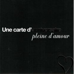 Carte Black and Gold - Une carte d'anniversaire pleine d'amour - 14.5x14.5 cm