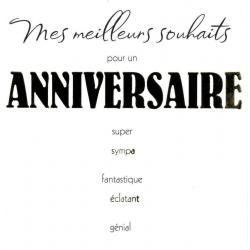 Carte Black and Gold - Meilleurs souhaits pour un anniversaire... - 14.5x14.5 cm