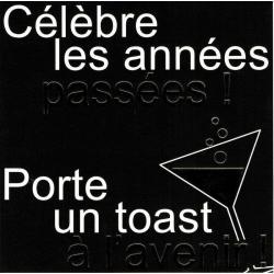 Carte Black and Gold - Célèbre les années passées! - 14.5x14.5 cm