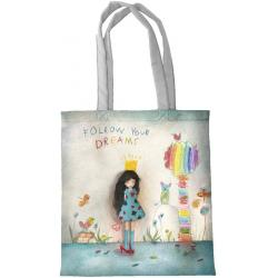 "Sac Julian et Mila ""Follow your dreams"" L38xH40 cm"