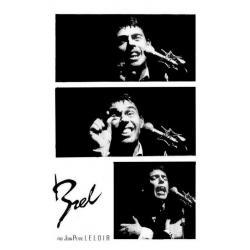 Jacques Brel -3 Photos par Jean Pierre Leloir - Affiche 50x70 cm