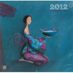 "Calendrier Gaëlle Boissonnard 2012 ""l'offrande"" 30x30 cm"