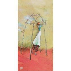 "Carte Gaëlle Boissonnard ""Femme cabane"" New 10.5x21 cm"