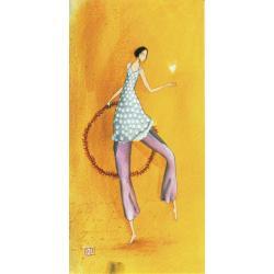 "Carte Gaëlle Boissonnard ""Femme cerceau"" New 10.5x21 cm"