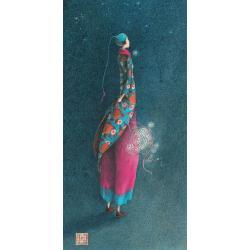 """Carte Gaëlle Boissonnard """"Femme redingote"""" New 10.5x21 cm"""