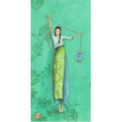 "Carte Gaëlle Boissonnard ""Femme cadeau"" New 10.5x21 cm"