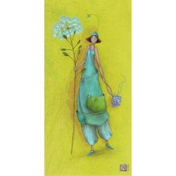 "Carte Gaëlle Boissonnard ""Femme ombélifère"" New 10.5x21 cm"