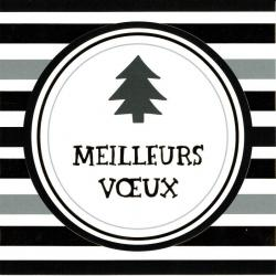 """Carte de Voeux """"Meilleurs voeux"""" 4394 - 14.5x14.5 cm"""