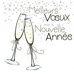 """Carte de Voeux """"Meilleurs voeux pour la nouvelle année"""" 4398 - 14.5x14.5 cm"""