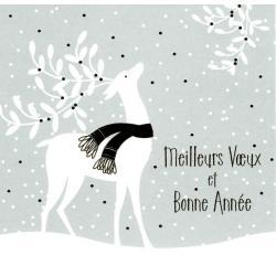 """Carte de Voeux """"Meilleurs voeux et bonne année"""" 4400 - 14.5x14.5 cm"""