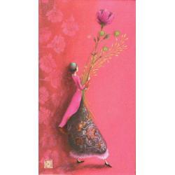 """Magnet Gaëlle Boissonnard """"La grande fleur"""" 5x9 cm"""