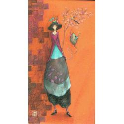 """Magnet Gaëlle Boissonnard """"L'arbre aux oiseaux"""" 5x9 cm"""
