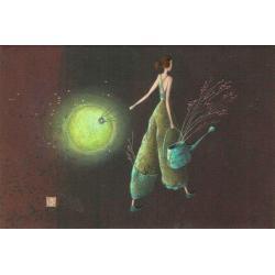 """Magnet Gaëlle Boissonnard """"Le lampion vert"""" 7.9x5.4 cm"""