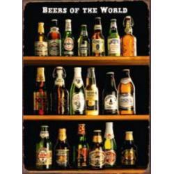 """Tableau 3D """"Bières du monde"""" - MDF - 29.5 x 39.5 cm"""