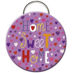 """Porte clés décapsuleur Les Mamouchkas """"Home sweet home"""" (Diamètre: 56mm)"""