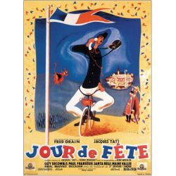 """Affiche Jacques Tati """"Jour de fête"""" - Dimension 50x70 cm"""
