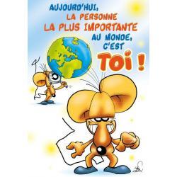 Carte double Ze Souris - Aujourd'hui, la personne la plus importante ... - 22X32 cm