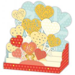 Carte 3D Petits Brins de Vie - Brochettes de coeurs - 10x10.5x5 cm