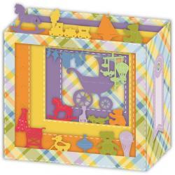 Carte 3D Petits Brins de Vie - Naissance - 10x10.5x5 cm