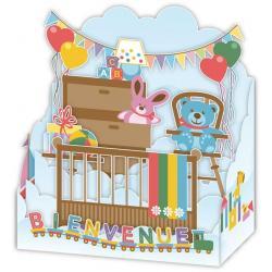 Carte 3D Petits Brins de Vie - Bienvenue au bébé - 10x10.5x5 cm