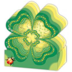 Carte 3D Petits Brins de Vie - Trèfle à 4 feuilles - 10x10.5x5 cm