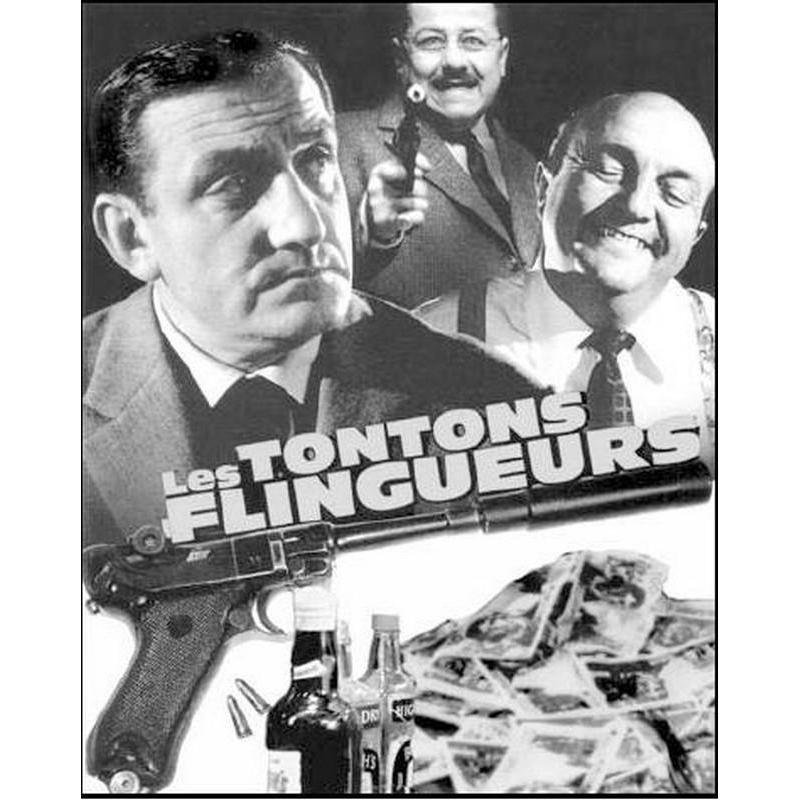 affiche du film les tontons flingueurs georges lautner 1963 dimension 24x30 cm planete. Black Bedroom Furniture Sets. Home Design Ideas