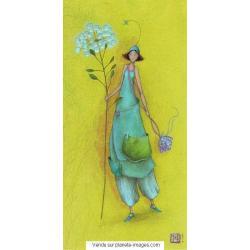 Carte Gaëlle Boissonnard 2017 - Promenade ombélifère - 10.5x21 cm