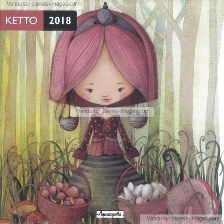 Calendrier Ketto 2018 - La cueillette - 30x30 cm