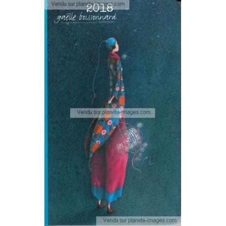 Agenda 2018 Gaëlle Boissonnard - Le lampion aux papillons - 10x16.6 cm