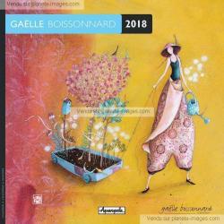 Calendrier 2018 Gaëlle Boissonnard - Le jardin ambulant - 30x30 cm