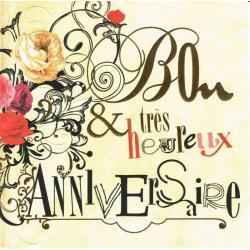 Carte Bon et très heureux anniversaire - Collection Caractère - CAR068 - 14.5x14.5 cm