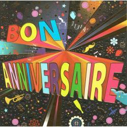 Carte Bon Anniversaire - Collection Caractère - CAR082 - 14.5x14.5 cm