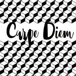 "Carte Black and Gold ""Carpe Diem"" 14.5x14.5 cm"