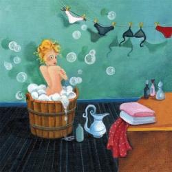 Carte Marie Cardouat - Le bain -