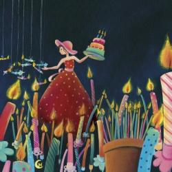 Carte Marie Cardouat - La forêt de bougies -