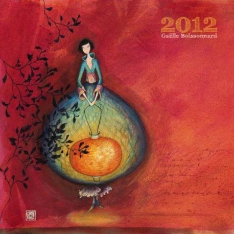 """Calendrier 2012 Gaëlle Boissonnard """"Lumière intérieure"""" 30x30 cm"""