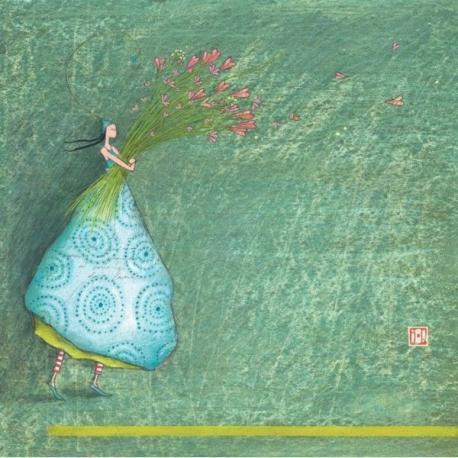 Carte Gaëlle Boissonnard - Bouquet de coeurs - 14x14 cm