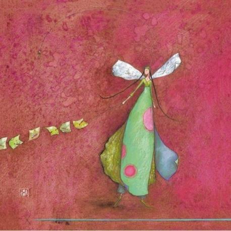 Carte Gaëlle Boissonnard - Femme au cerf - volant - 14x14 cm