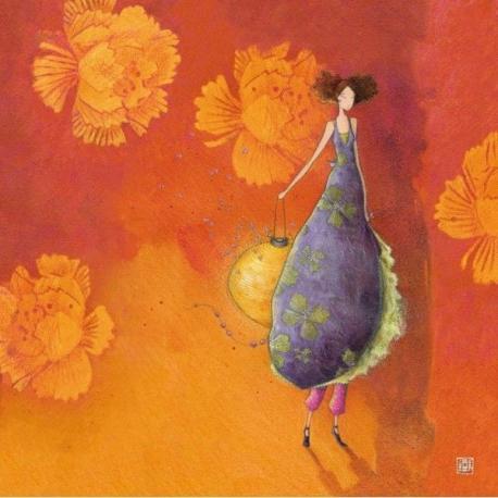 Carte Gaëlle Boissonnard - La fille et le lampion - 14x14 cm