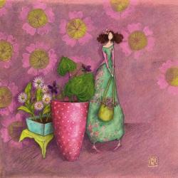 Carte Gaëlle Boissonnard - La jardinière - 14x14 cm