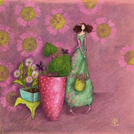 Carte Gaëlle Boissonnard - La jardinière - 14x14 cm - 14x14 cm