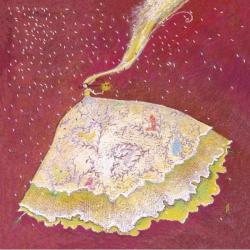 Carte Gaëlle Boissonnard - La mariée - 14x14 cm