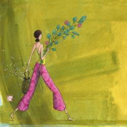 Carte Gaëlle Boissonnard - Le bouquet champêtre - 14x14 cm