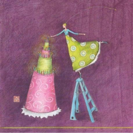 Carte Gaëlle Boissonnard - Le grand gâteau - 14x14 cm
