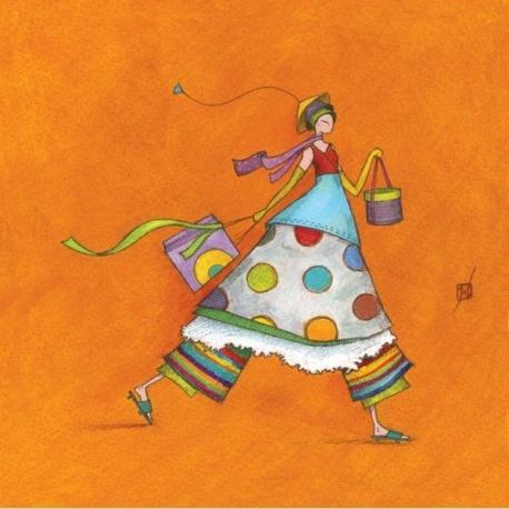 Carte Gaëlle Boissonnard - Shopping - 14x14 cm