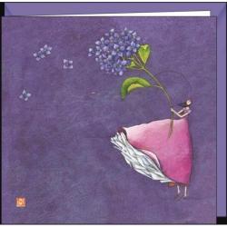 "Carte Gaëlle Boissonnard ""Hortensia"" 16x16 cm"