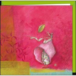 """Carte Gaëlle Boissonnard """"L'ombrelle"""" 16x16 cm"""